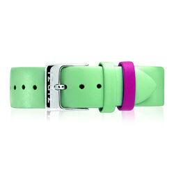 Zinzi Retro mintgroen leren horlogeband stalen sluiting