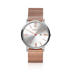 Zinzi Roman horloge rose mesh band ZIW512MR