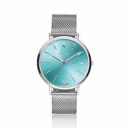 Ziw511m Zinzi Roman horloge mesh band zeegroene sunray wijzerplaat