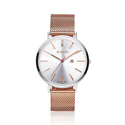 Zinzi Retro horloge rose verguld ziw412mr