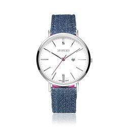 Zinzi Retro horloge denimblauw ziw406d