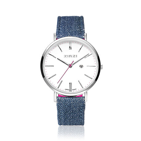 Jeans blauw Zinzi horloge Retro