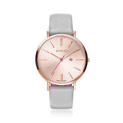 Zinzi Retro horloge rose vergulde horlogekast en wijzerplaat ziw405lg