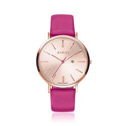 Zinzi Retro horloge fuchsia ziw405F