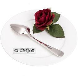 Dessertlepel zilver parelrand