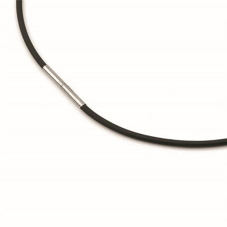 Boccia zwart rubberen ketting