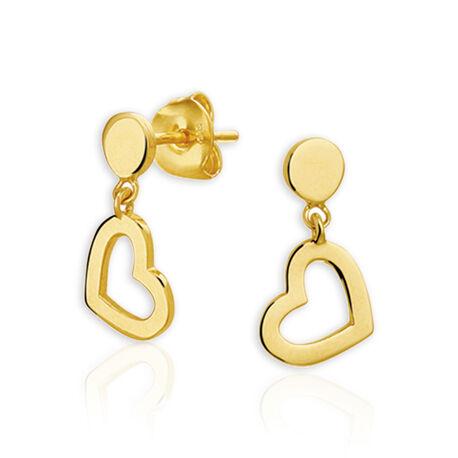 gouden oorbellen met hartjes