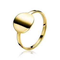 Zinzi gold gouden ringetje met rond vlak zgr171