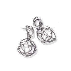 Zilveren oorbellen Twines Giovanni Raspini