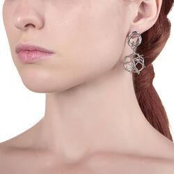 Zilveren oorbellen twines Raspini