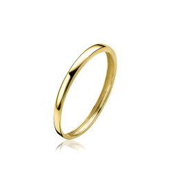 Gladde gouden ring van Zinzi zgr174