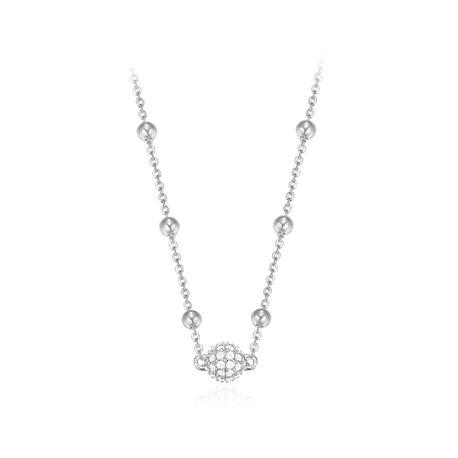 Esprit fijn zilveren bolletjes collier 42 cm