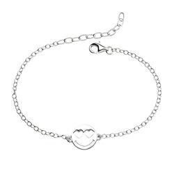 Zilveren armbandje met smiley