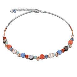Coeur de Lion Frontline collier in aqua orange 4864102002