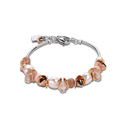 Coeur de Lion armband Frontline roze en peach met rose accenten 4863-30-1900