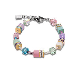 Geo Cube armband multicolor pastel romantic van Coeur de Lion 2838-30-1542