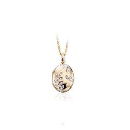 gouden medaillon met diamant Elements