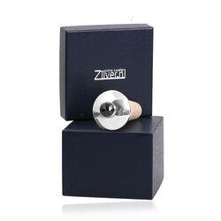 Zilveren kurk met facet geslepen granaat