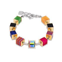 Grote geo Cube armband verguld van Coeur de Lion 4747-30-1500