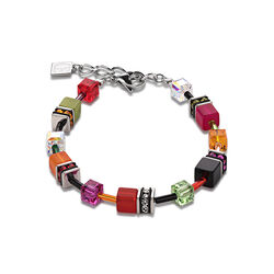 Coeur de Lion Geo Cube armband multicolour Garden 2838-30-1553
