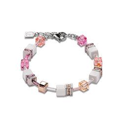 Coeur de Lion armband Geo Cube Pastel rose 2838-30-1923