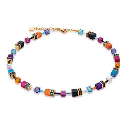 Geo Cube multicolour Couture collier van Coeur de Lion