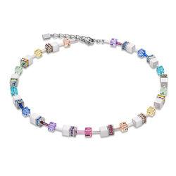 Geo Cube collier pastel wit Coeur de Lion 2838-10-1552