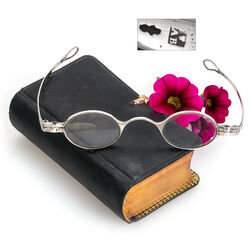 Antieke zilveren bril