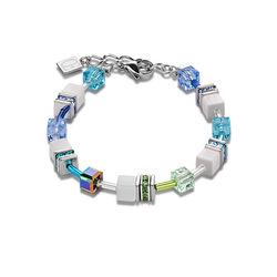 Coeur de Lion armband multicolour pastel blue 2838-30-0731