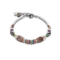 Coeur de Lion armband Swarovski Crystals en geslepen glas multicolour 4870-30-1500