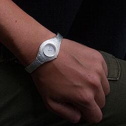 Lapponia horloge van zilver Time Peace 668017