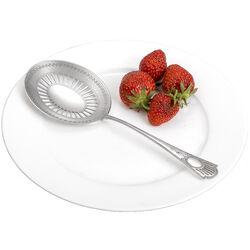Zilver natfruitschep luxe parelrand matte bak