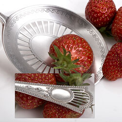 Zilveren natfruitschep luxe parelrand