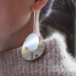 Zilveren oorhangers Lakeside Grande van Drakenberg