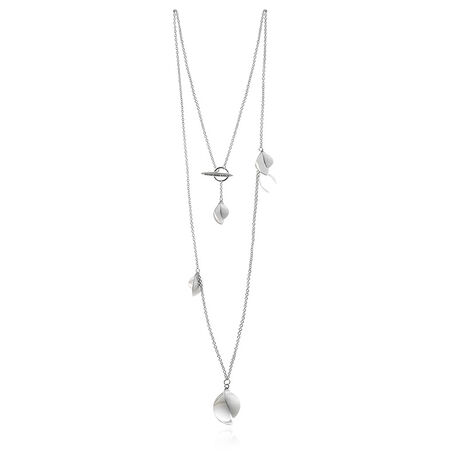 Lang zilveren collier Blossom van Drakenberg Sjolin