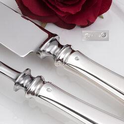 Zilver voorsnijcouvert in model puntfilet