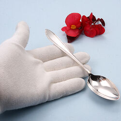 Losse zilveren dessertlepel puntfilet van H. Hooijkaas