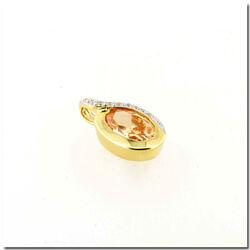 Zinzi Gold hanger met geel zirconia en 9 briljantjes