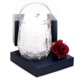 Kristallen ijsemmer zilveren hengsel