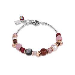 Coeur de Lion armband frontline roze rood 4864-30-0319
