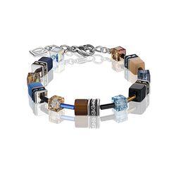 Coeur de Lion armband beige blauw 2838-30-0732