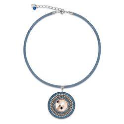 Coeur de Lion collier SparklingCoeur blauw rosé 4836-10-0700