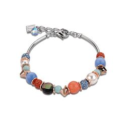 Coeur de Lion armband aqua orange 4864-10-2002