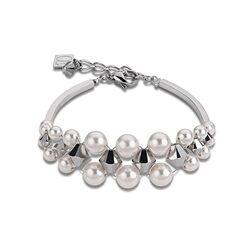 Elegantcoeur armband witte crystal parels 4871301400