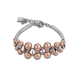 Coeur de Lion armband multirow parels rose 4871301620