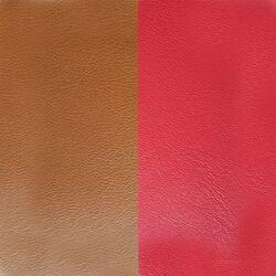 Les Georgettes 40 mm leertje Tabac bruin en Scarlet rood