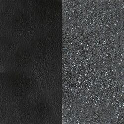 Les Georgettes 40 mm leertje zwart en zwart grijs glitter