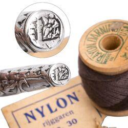 Antieke zilveren naaldenkoker