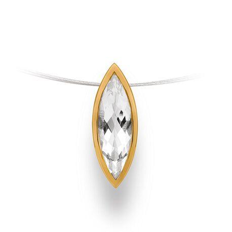 Zilveren hanger met bergkristal 12622