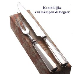 Haags lofje voorsnijcouvert zilveren heften